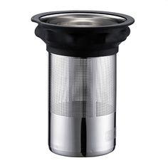 Bodum RVS Filter met Siliconen ring voor Thee Press 1,0 L - Zwart