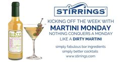 Nothing Conquers Monday Blues Like a Dirty Martini! Allure Flooring, Drinks, Brand Campaign, Monday Blues, Heavenly, Martini, Vodka Bottle, Food And Drink, Drinking