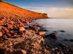 The cliffs of Campbell's Cove by Jon Singleton