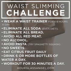 Get back on track with health and fitness resolutions with this 7-day waist slimming challenge.