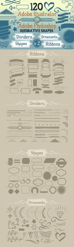 120 Handwritten Decorative Shapes 02 - http://graphicriver.net/item/120-handwritten-decorative-shapes-02/5123725?ref=cruzine