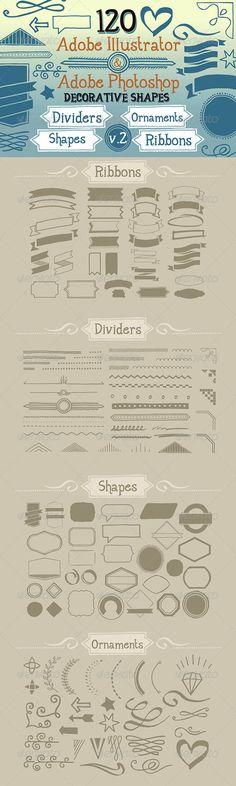 120 Handwritten Decorative Shapes 02 - http://graphicriver.net/item/120-handwritten-decorative-shapes-02/5123725?ref=cruzine