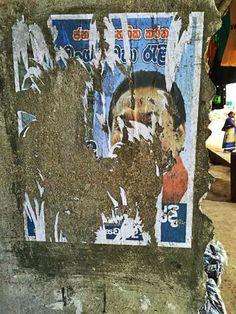 Pre-election poster war in Sri Lanka.