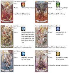 My FFXIV Astrologian card cheat sheet