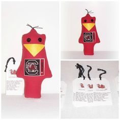 Cocky Gamecock Game Day Doll, Stress Anger DE-Stress Mad Grab It USC Cocky Doll,University Of South Carolina,Karma Dammit Doll EerieBeth EB5 by SheCollectsICreate on Etsy
