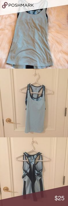 Champion Light Blue Workout Built In Bra Tank Light blue workout tank with built in bra. Excellent used condition. Worn 1X. All sales final.  BAG1Y 🌟No Returns If Item Doesn't Fit - Please Ask For Measurements Instead (Per Posh Rules)  🌟 No Trades 🌟 I Do Not Model  🌟 Bundle 3 Or More Items In My Closet For 20% Off! Champion Tops Tank Tops