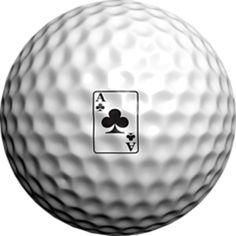 Logo Golf Ball Ace of Clubs by Adamo Golf on Opensky