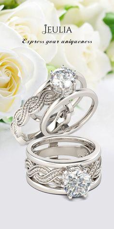Jeulia Infinity Twisted Round Cut Created White Sapphire Womens