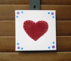 Tiny Heart #1 Fabric Wall Art by CottonwoodCove on Etsy