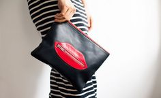 Of a Kind - LEATHER LIPS CLUTCH