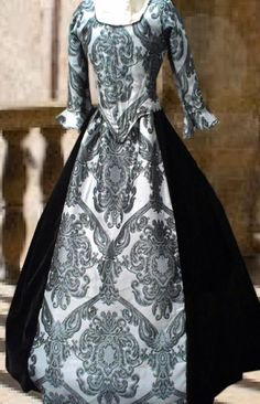 silver swan ball gown