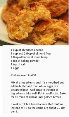 Buttery cheesy (red lobster) low carb biscuits