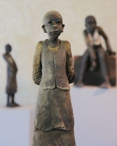 Joelle Gervais Gervais, Joelle, Terracotta, Buddha, Porcelain, Clay, Statue, Paper, Wood