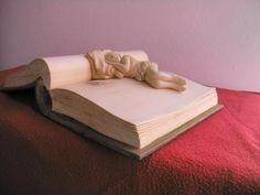 Wooden books by Nino Orlandi - Scultore per passione