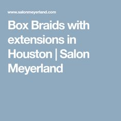 Box Braids with extensions in Houston | Salon Meyerland