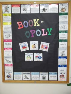Book-opoly - I'd rather have a giant game board on the floor. The game squares would have book/reading suggestions. Whenever someone stopped on a square and looked down, they'd be encouraged to do as the game told them.