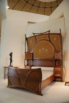 Art Nouveau bed.