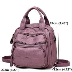 02172a732165 Hot-sale designer Women PU Soft Multi-function Bags Leisure Handbags Large  Capacity Backpack