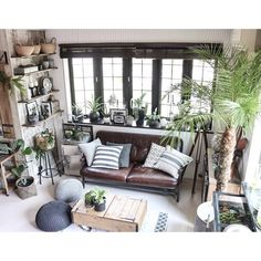 yupinokoさんの、Lounge,観葉植物,DIY,DIY家具,フェニックス,男前,セルフリノベーション,ACME FURNITURE,アメブロやってます♡,インスタやってます♡についての部屋写真