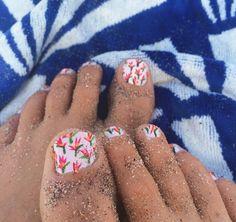 Bird of Paradise print toes.