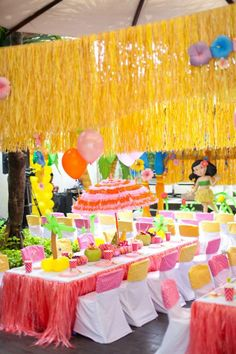Hawaiian Luau Party Decorations | Items used in this party available in Kara's Party Ideas Shop :
