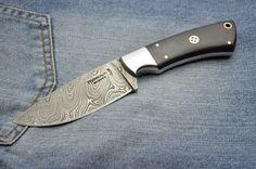 Handmade Damascus Steel Knife. Hunting Knife. Micarta, Steel Bolster. Fixed Blade Knife, Damascus Steel, Kitchen Knives, Hunting, Handmade, Craft, Deer Hunting, Arm Work, Hand Made