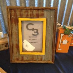 Mustard Picture Frame with Tin  $40