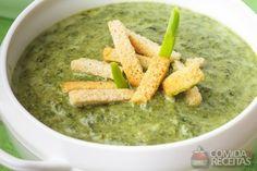 Receita de Sopa de espinafre em receitas de sopas e caldos, veja essa e outras receitas aqui!