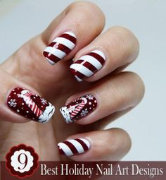 This Pin was discovered by Nails Art Designs. Discover (and save!) your own Pins on Pinterest. | See more about nail art designs, christmas candy and nail arts.