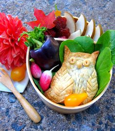 autumn owl bento by Bentobird, via Flickr