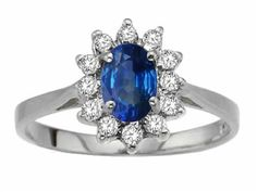 Tommaso Design Genuine Sapphire Ring 14kt Size 9 *** Find out more about the great product at the image link.