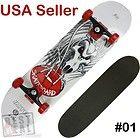 New Quality Skateboard Skull Complete 4 Colors USA Seller White 01 - Colors, Complete, Quality, Seller, Skateboard, Skull, White