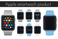 Apple iwatch smartwatches products. by Lembergvector on @creativemarket