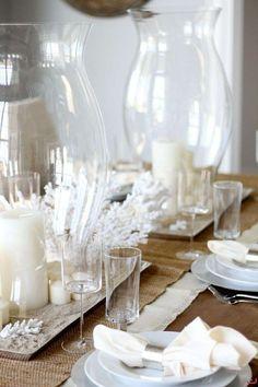 Tavola marinara nelle nuances del bianco - Come apparecchiare la tavola in stile marina nelle nuances del bianco.