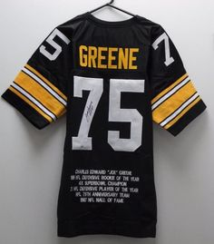 #SportsMemorabilia #Auction Today 6pm EST -  'Joe Green' Jersey 4x Super Bowl Champion Hall of Fame 1987. GTSM Cert. http://auction.auctionnetwork.ca/Joe-Green-Jersey-4x-Super-Bowl-Champion-Hall-of_i27405315