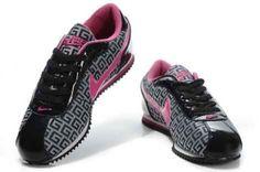 :: Nike Cortez Black Deep Pink :: Nike Cortez Black, Shoes Heels Boots, Heeled Boots, Pink And Black Nikes, University Of Oklahoma, Nike Sweatshirts, Nike Outfits, Me Too Shoes, Fashion Ideas