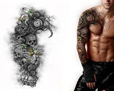 full sleeve & chest design