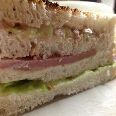 Death by a Clubhouse: Ham, Tuna, Tomatoes, Lettuce, Cucumber, and Cheese. - @wejeanmarie- #webstagram