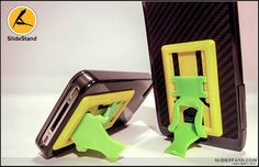 The yellow on green slidestand. Landline Phone, Electronics, Yellow, Green, Gold