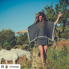 @miroesja is wearing the Paris cotton waved Poncho with viscose/lurex crochet details and stones tassel decoration. Availiable on my online shop  Link in bio  Shipping worldwide #Repost @miroesja (@get_repost)  Love and letting go. [new blog online link in bio!] #love #letgo #ibiza #life #grow #experience #free #soul #family #friends #first #instagood #picoftheday #white #horse #dance #model