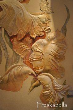Барельеф в деталях.Учимся Создавать БАРЕЛЬЕФ | VK Wall Sculptures, Sculpture Art, Plaster Art, Wood Carving Art, Diy Molding, Gourd Art, Stencil Art, Textured Wallpaper, Beautiful Wall