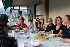 Dinner on the terrace overlooking San Remo.  .  #learnitalian #studyitalian #studyinitaly #travelitaly #italianculture #italianlanguage