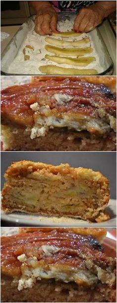 PARA QUEM GOSTA DE BANANA,ESSA RECEITA E SUPER FÁCIL E DELICIOSA!! VEJboloA AQUI>>>Para a farofa, misture numa vasilha o trigo, o açúcar, e o fermento, reserve Derreta a margarina, acrescente o leite e os ovos, mexa bem #receita#bolo#torta#doce#sobremesa#aniversario#pudim#mousse#pave#Cheesecake#chocolate#confeitaria