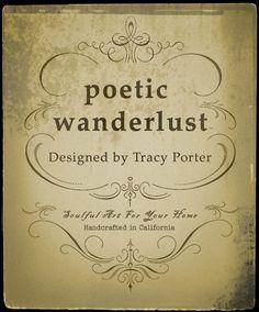 tracy porter- poetic wanderlust