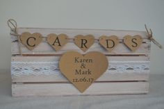 Personalised shabby chic wooden crate wedding card post box heart bunting & lace in Home, Furniture & DIY, Wedding Supplies, Card Boxes Wedding Budget Worksheet, Diy Card Box, Card Boxes, Wedding Card Post Box, Wedding Games, Wedding Ideas, Diy Wedding, Wedding Reception, Wedding Nails For Bride