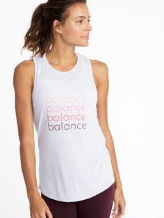 b9ff4c83c273a Graphic Performance Muscle Tank for Women. Workout TopsWorkout ...