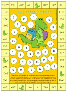 Math - (page - nicole ni papier 1st Grade Math, Kindergarten Math, Teaching Math, Educational Math Games, Math Activities, Math Addition, Addition And Subtraction, Education Logo, Kids Education