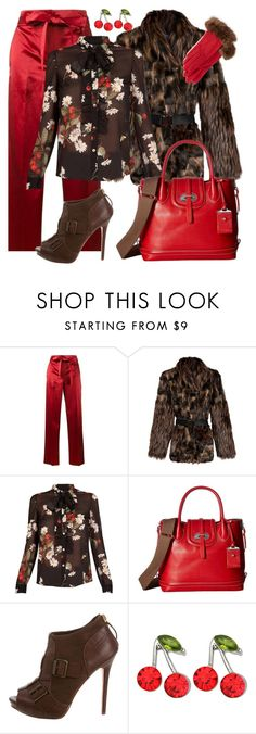 """""""Untitled #84"""" by coolhewie ❤ liked on Polyvore featuring Helmut Lang, RED Valentino, Dooney & Bourke, Alexander McQueen, Kate Marie and Portolano"""