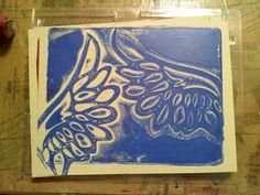 **The Craft Donkey**: WOYWW: Gelli Plate Prints...oh my!!!