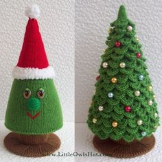 knit pattern for christmas tree | Crochet and Knitting Christmas Tree Pattern by ... | Christmas